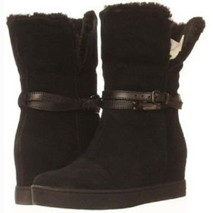 Coach Suede Shearling Norell Bootie